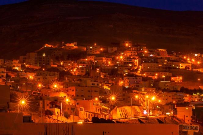 Petra at night.