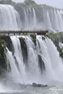 Brazilian side of the Iguazu Falls