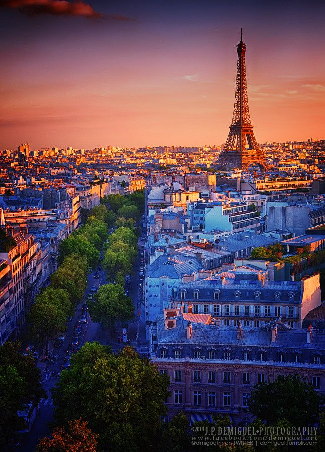 Sunset in Paris - France