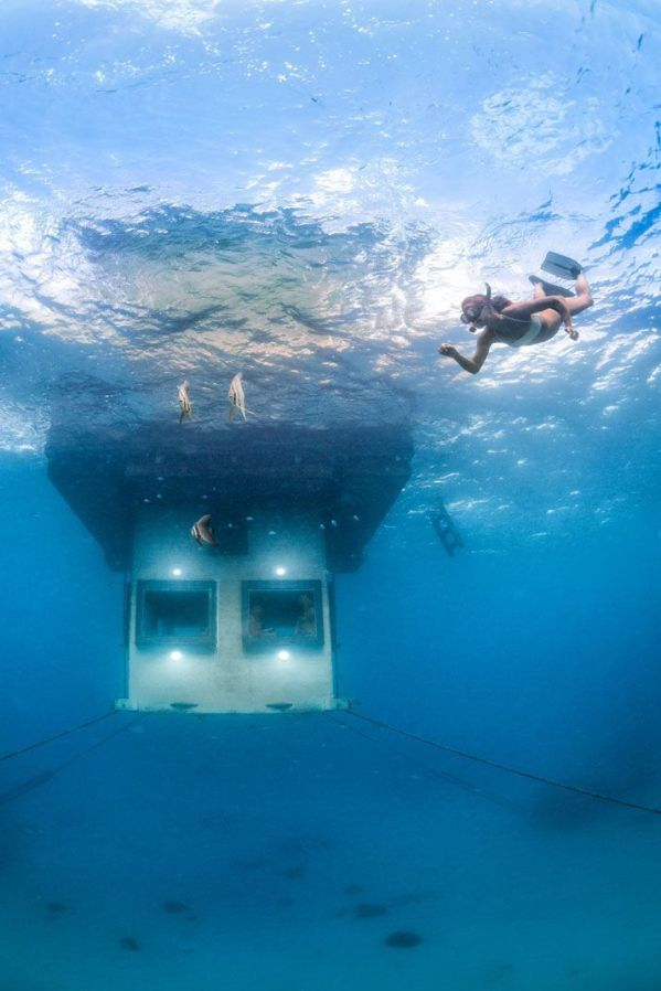 The Manta Resort's Underwater Room Off Pemba Island, Tanzania