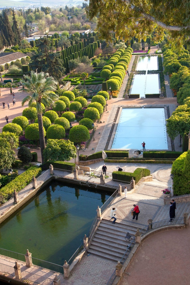 Ponds of Alcazar Garden in Cordoba, Andaluzia - Spain