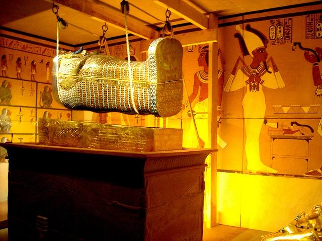 Burial chamber from Tutankhamun´s tomb