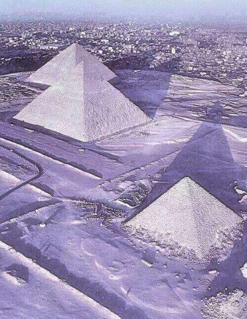 Pyramids Under Snow