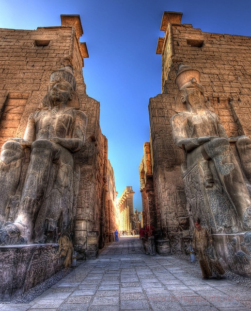 The First Pylon at Luxor Temple