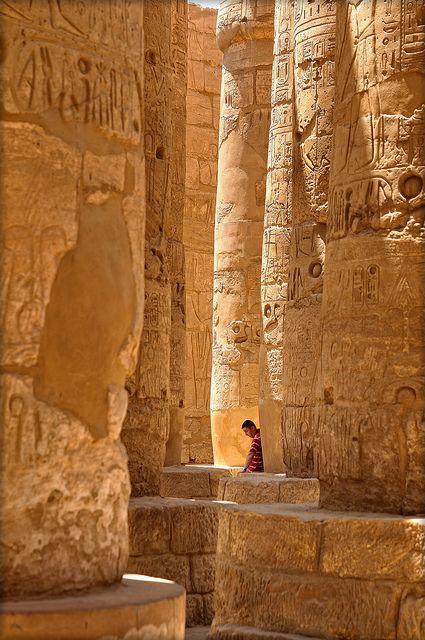 Temple of Amun in Karnak, Luxor, Egypt