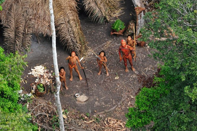 Amazon tribe - Photograph: Gleison Miranda/Funai/EPA