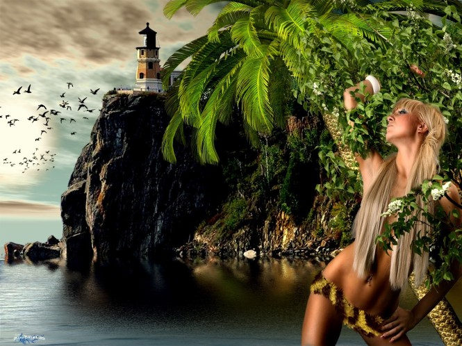 Amazon Little Island Girl is part of the Fantasy wallpapers collection.