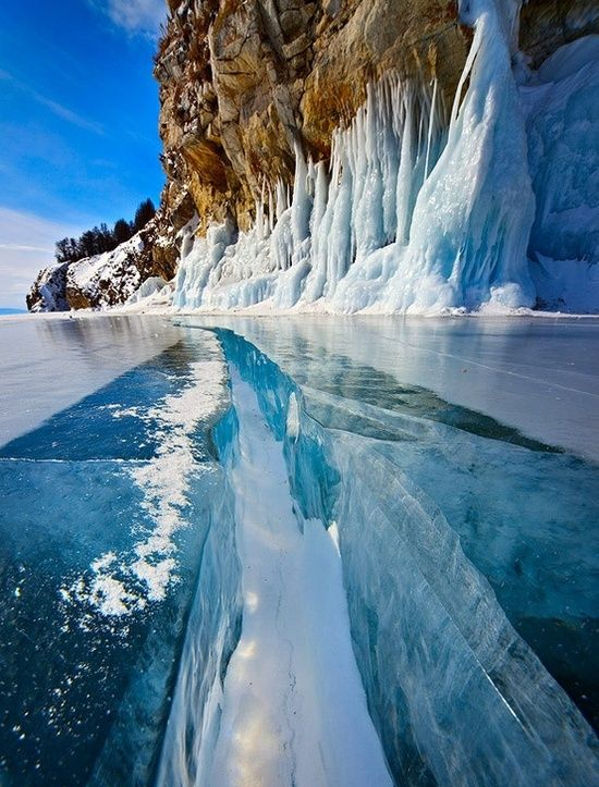 Solid Ice - Lake Baikal, Russia