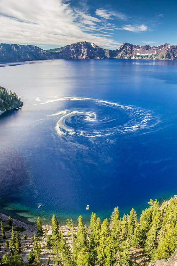 Giant Swirl At Crater Lake National Park, Oregon.