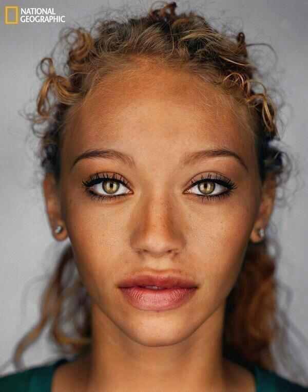 According to National Geographic, this is what the average human will look like in 2050