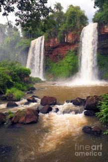 Two Sisters Falls - Iguazu, Misiones, Argentina