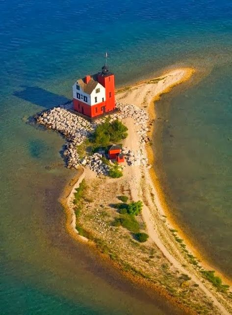 Round Island Lighthouse Mackinaw Island Michigan