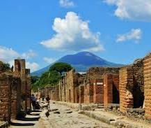 Pompei and Vesuvius volcano, Italy