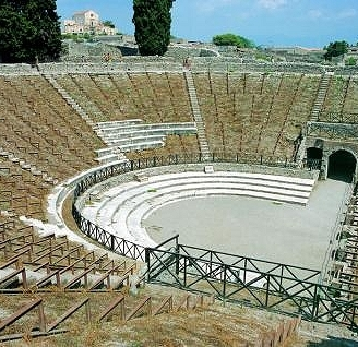 The archaeological site of Pompeii Campania