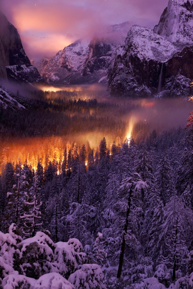 Yosemite Valley at Night.