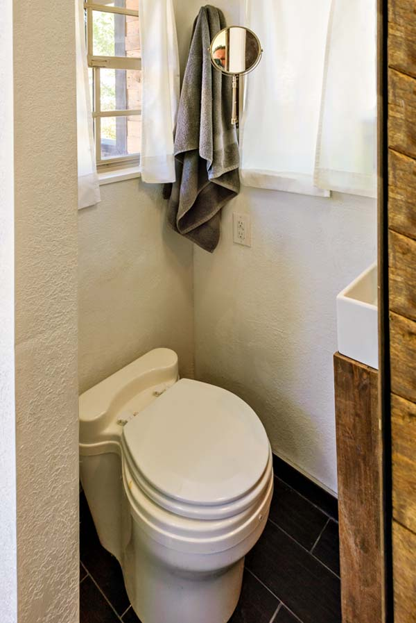 The most expensive part of the house was the composting toilet, which was $2,000.00