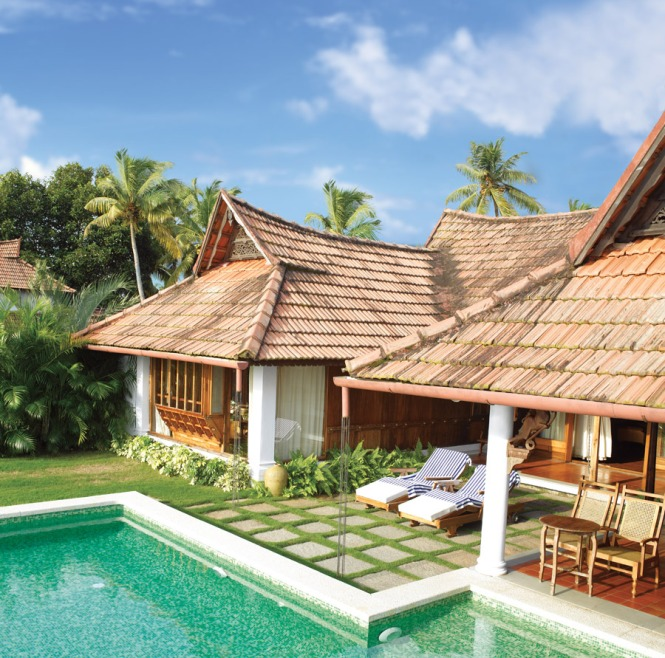 Meandering pool villas at Kumarakom Lake Resort