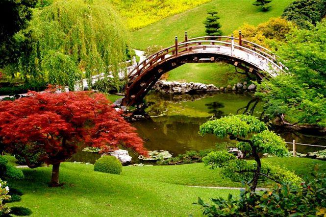 The Japanese Gardens at Huntington Museum in Pasadena, California. (photo credit: Randy