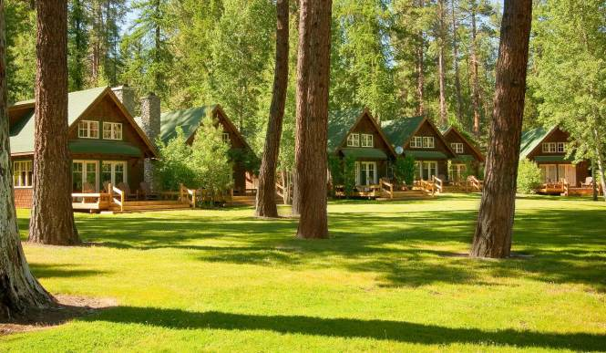 Set on the banks of the crystal-clear, spring-fed Metolius River 14 miles west of Sisters, the contemporary, cedar-shingled two-story cabins are exceptional, offering modern amenities and styling with a bit of a rustic feel.