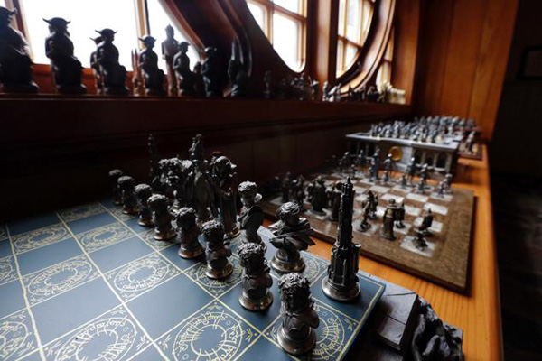 It even has a Tolkien inspired chess board.