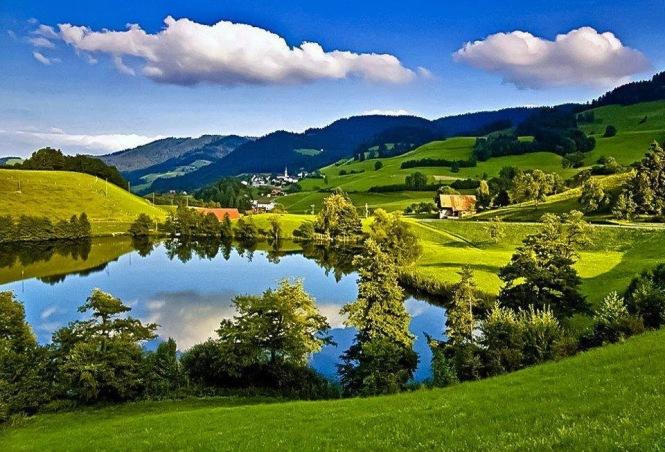 Zurich Region near Türlersee.