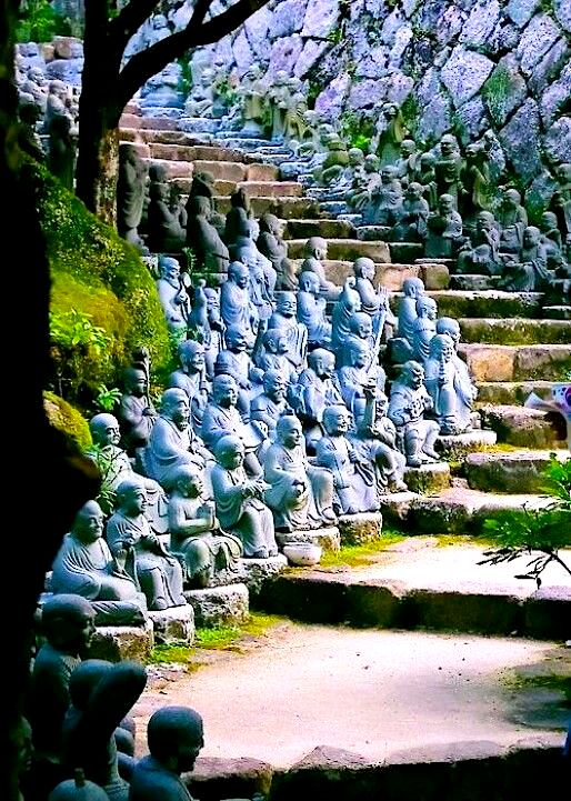 Statue Staircase, Kyoto, Japan