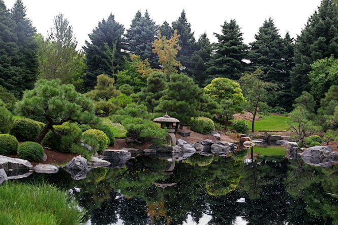 Japanese and botanic gardens amazing nature for Formal japanese garden