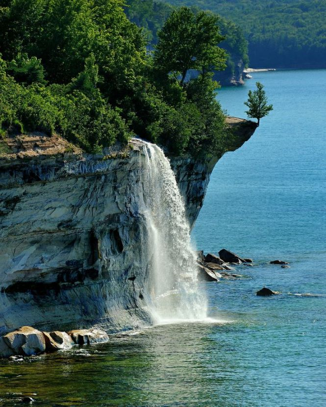 """Spray Falls"" Michigan"