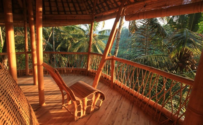 Bamboo Houses In Bali Amazing Nature