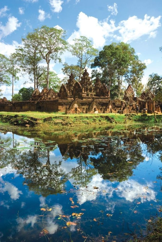 Beautiful Reflection of Angkor Wat in Cambodia.