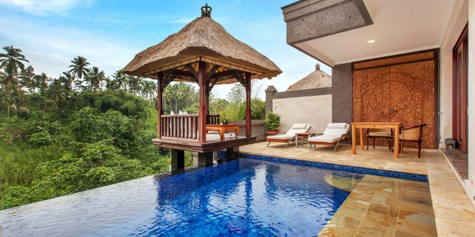 Deluxe Terrace Villas have private outdoor pools.