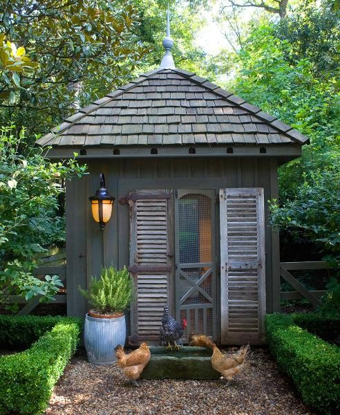Garden Shed With Shutters And A Screen Door