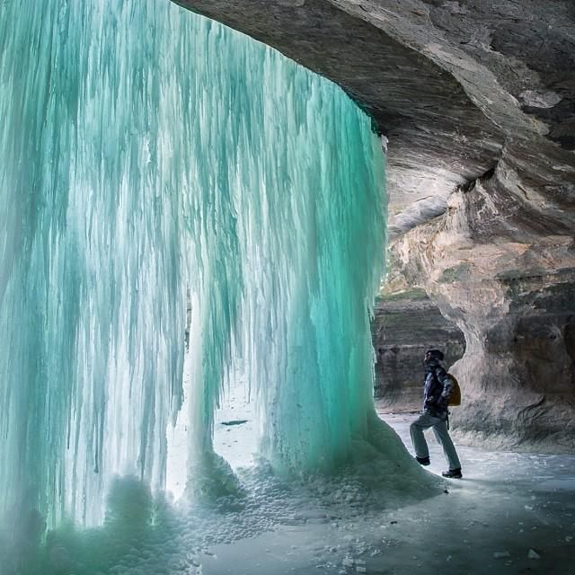 Icefall Glow - LaSelle Canyon at Starved Rock State Park, IL