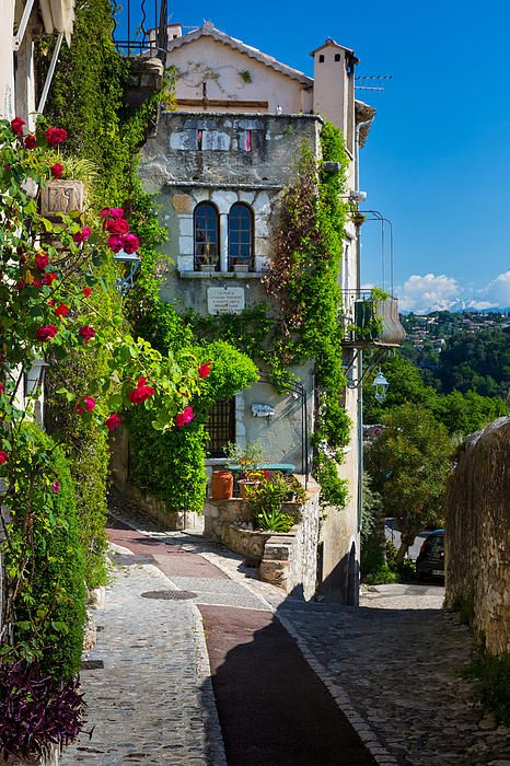 Street in Saint Paul de Vence in southern France