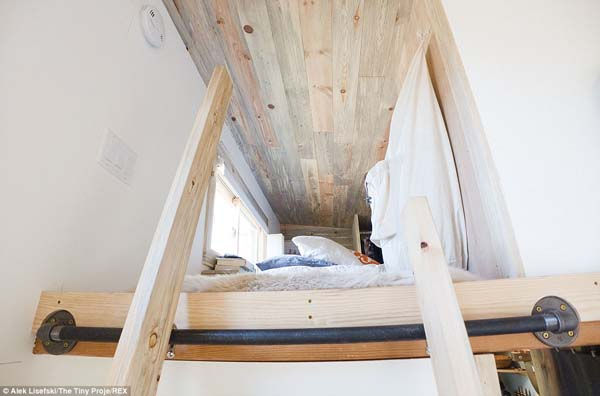 On the second floor of the house is a loft.