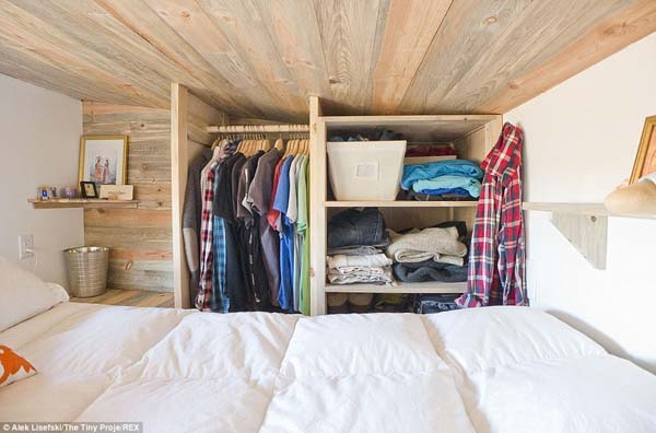 There's even room for closet space along the wall.