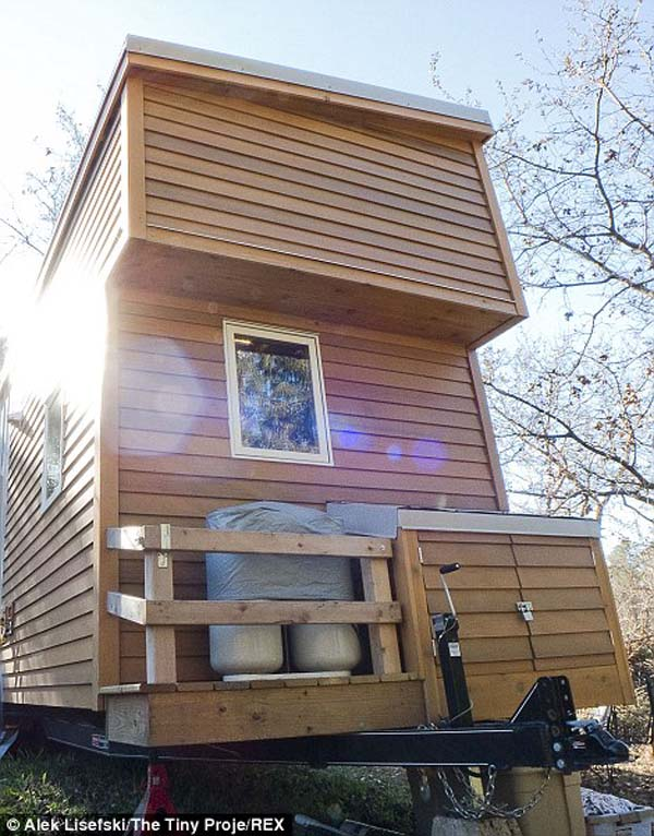 The home was built on top of a trailer while he was still in Iowa