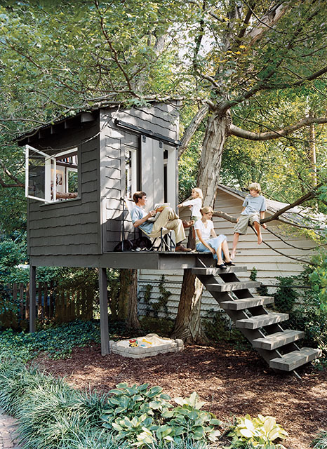 Treehouse-Like Garden Shed