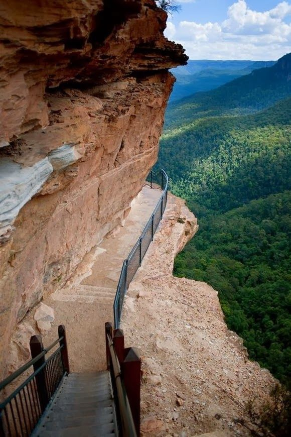 Cliff Path at Blue Mountains, Australia