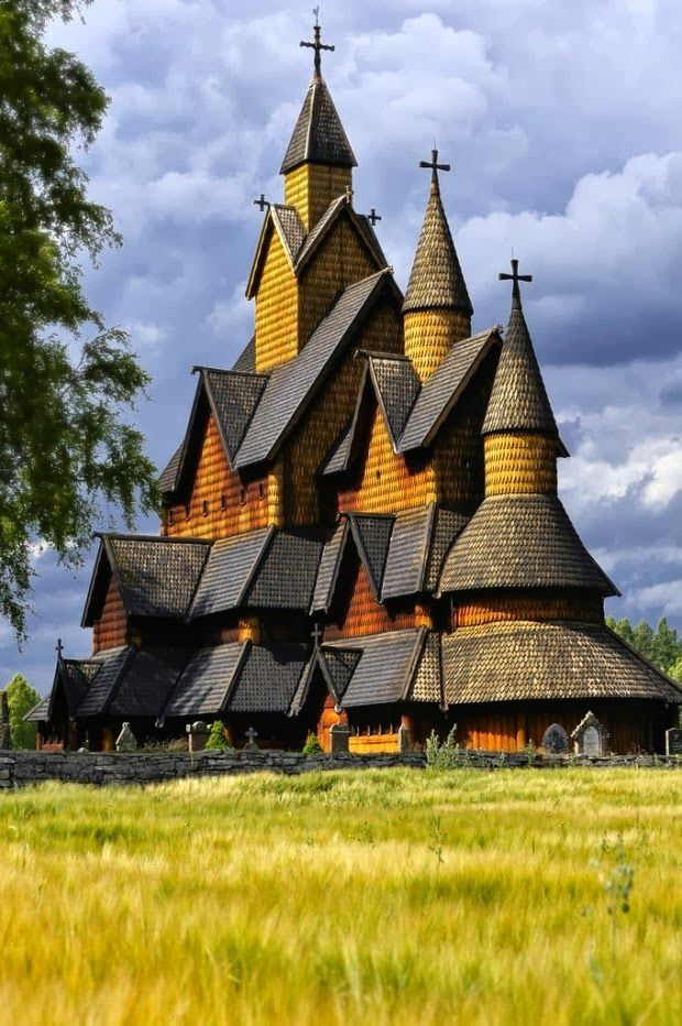 Fascinating architecture - Heddal Stave Church in Telemark, Norway