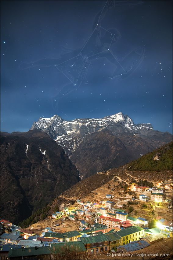 Orion above the Himalayas (by Anton Jankovoy )