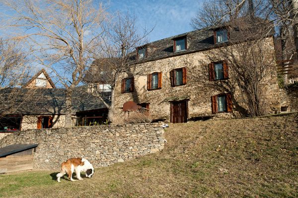 This property in the Val d'Aran is on the market for 3 million Euros ($4.1 million).It consists of three traditional Pyrenean farm buildings. The main house, center, was connected to an outbuilding when the compound was renovated starting in 2000.